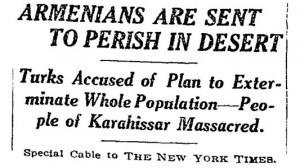 nyt armenian genocide